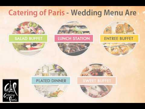 Wedding Menu Of Catering of Paris