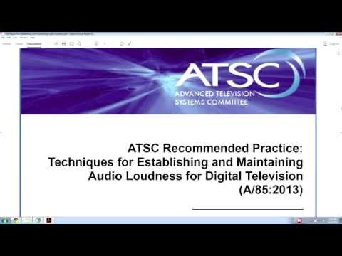 Mixing for TV: ATSC A/85 Loudness Standards