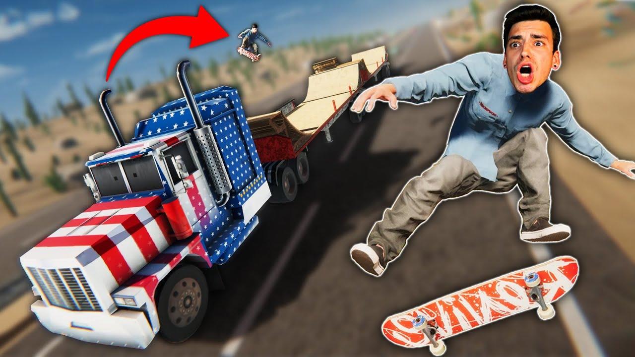 SKATEBOARDING ON A MOVING TRUCK?! (Skater XL)