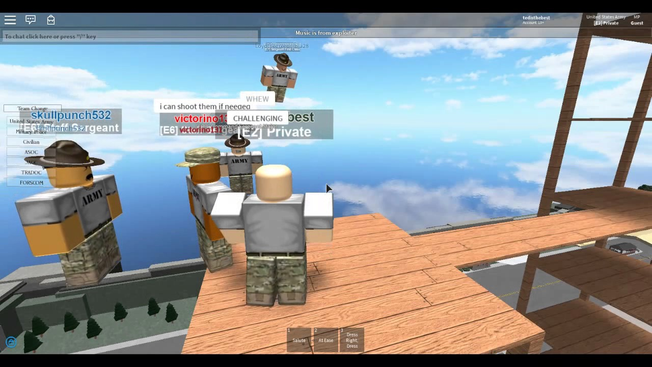 [Roblox] U S  Army ACT - Promotion to E3