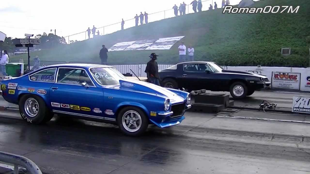 Chevy Camaro vs Chevy Vega, Pro Street, Drag Racing HD - YouTube