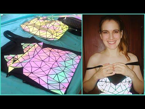 DIY Reflective Purse Dress - Shines in Bright Light!