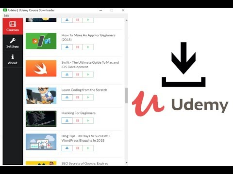 Best Way To Download Udemy Videos on Your Computer With Udemy Course  Downloader