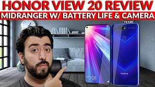 Honor View 20 Review - The Best Midranger For Photos & Battery Life - YouTube Tech Guy