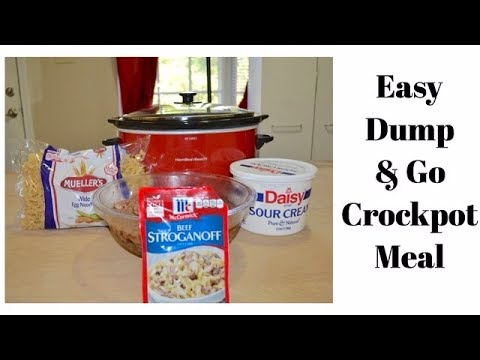 Dump & Go Beef Stroganoff //  Crock Pot // Crockpot Meal