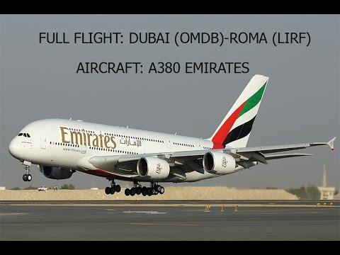 FSX: FULL FLIGHT DUBAI (OMDB) - ROMA FIUMICINO (LIRF)