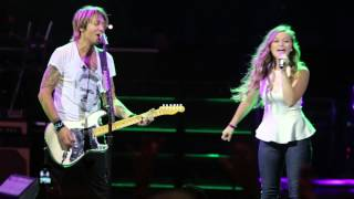 """We Were Us"" Keith Urban & Gracie Aufderbeck CINCY 7/31/14"