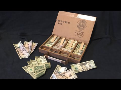 How to make a DIY money box out of cardboard!!!