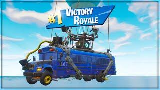 ניצחון אמיתי באוטובוס של פורטנייט באטל רויאל!