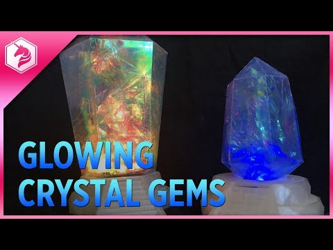 DIY Paper Craft Glowing Crystal Gems Tutorial @adafruit #adafruit #stevenuniverse #darkcrystal