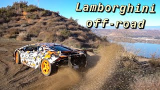 LAMBORGHINI GOES OFF-ROAD! PLAYING IN THE DIRT...