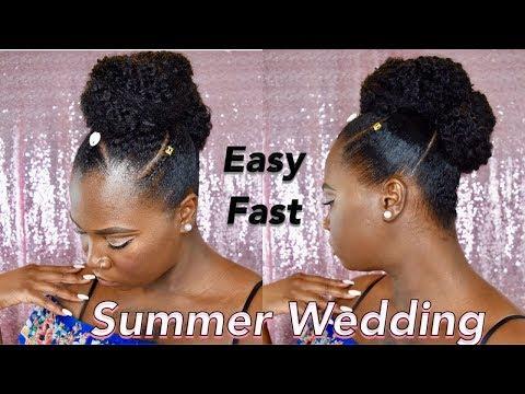 Natural Hair Tutorial | Summer Wedding Updo