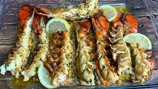BAKED LOBSTER TAILS RECIPE || HOW TO BAKE LOBSTER TAILS IN THE OVEN |