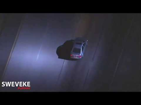 Los Angeles Police Pursuit Ends With PIT Maneuver 18/07/2017