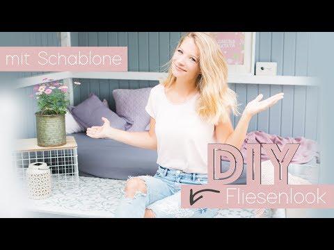 Nine macht´s ... DIY Fliesenlook Schablone malen // delari