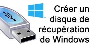 Créer un disque de récupération de Windows 8 - USB & DVD