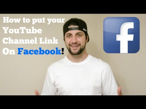 How To Put Your Youtube Channel Link On Facebook Youtube