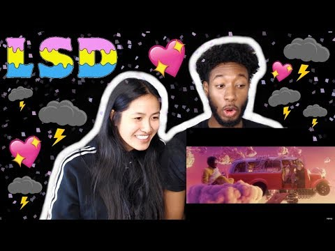 LSD - THUNDERCLOUDS (OFFICIAL VIDEO) FT. SIA, DIPLO, LABRINTH | REACTION
