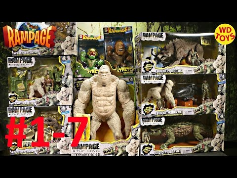 New 10 Rampage The Movie Toys Unboxing Unbox Compare to King