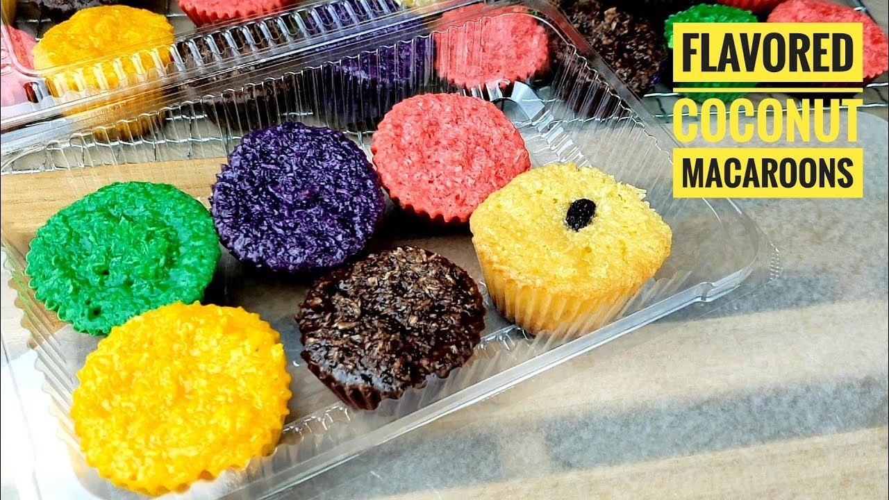How To Make No Oven Coconut Macaroons Flavored Macaroons Filipino Coconut Macaroons Youtube