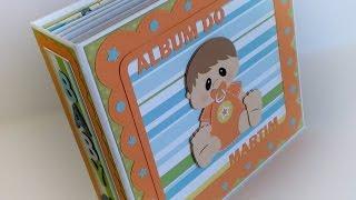 Scrapbook Mini Album para Bebé - Album do Martim