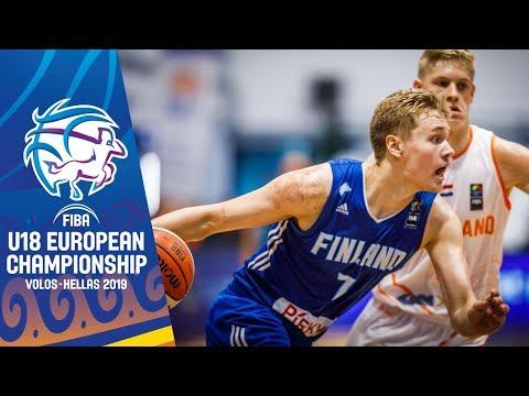 Netherlands V Finland - Full Game - FIBA U18 European Championship 2019