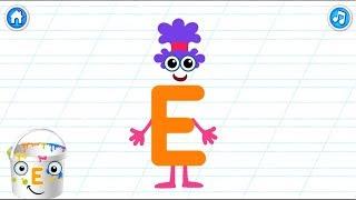 Вчимося читати. Вчимо літери. Буква Е. Розвиваючий мультик.