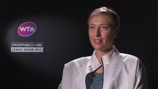 Interview Maria Sharapova (RUS) - Porsche Tennis Grand Prix 2017