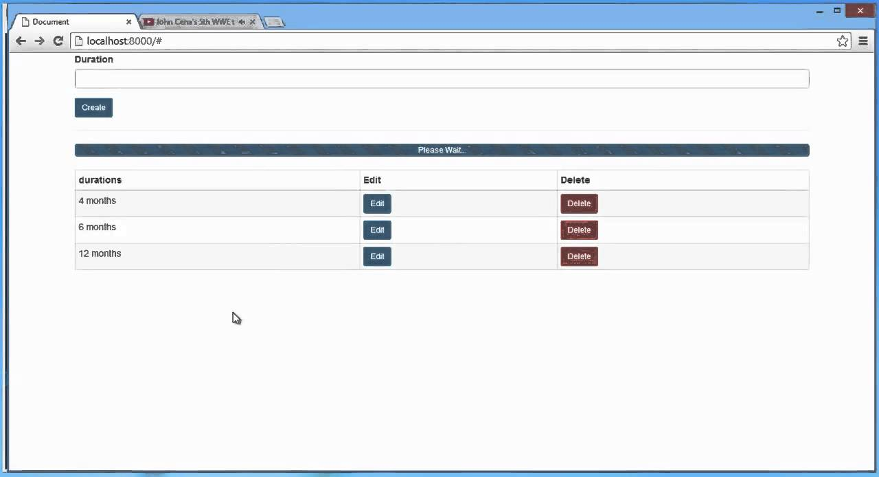 Laravel 4 And Angularjs Duration App Demo Edit And Update With