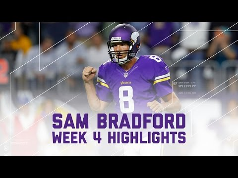 Sam Bradford Completes 72% of Passes & Leads Vikings to Win | NFL Wk 4 Player Highlights