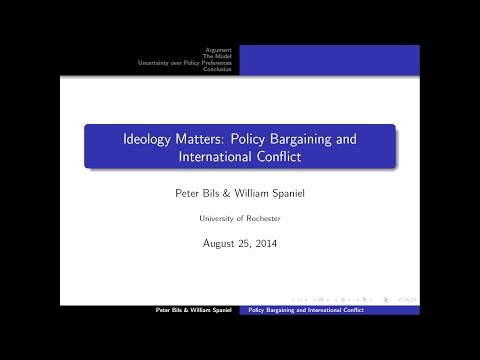 APSA 2014: Policy Bargaining and International Conflict