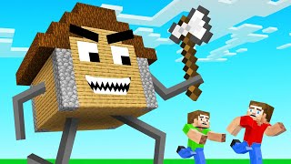 Minecraft BUT The HOUSES ATTACK You!