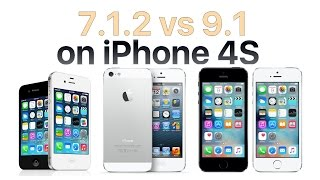 iPhone 4S iOS 9.1 vs iOS 7.1.2(, 2015-10-23T13:02:05.000Z)