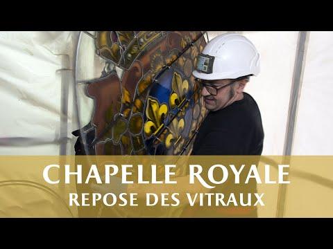 Repose des vitraux de la Chapelle Royale
