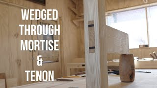 How I cut a Wedged Mortise and Tenon!