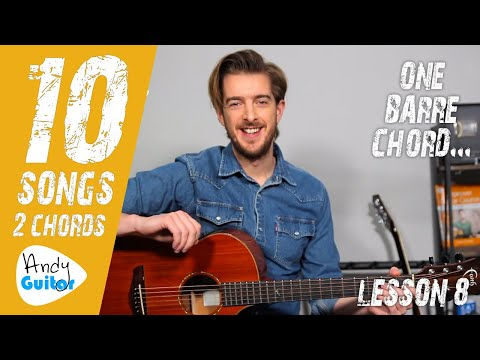 SONG 8 'Don't Let Me Down' By The Beatles // 10 SONGS WITH 2 CHORDS 1 BARRE CHORD