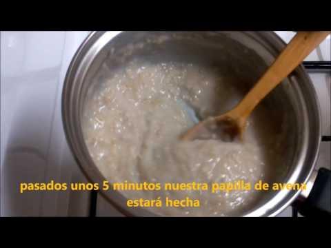 Cómo hacer porridge o crema de avena