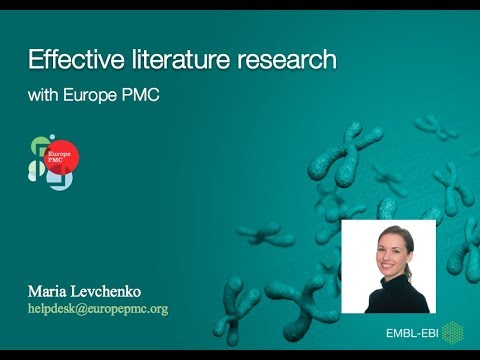Effective Literature Research with Europe PMC