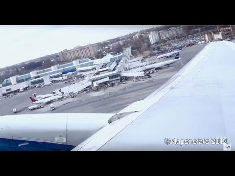 MUST WATCH: Fully-Loaded Delta 757 Departure NY LaGuardia