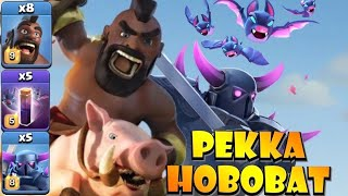 *NEW STRATEGY* THIS IS CRAZY! TH12 PEKKA HOBOBAT Attack Strategy - Best TH12 Attack Strategies