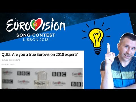 Taking the Eurovision 2018 Quiz