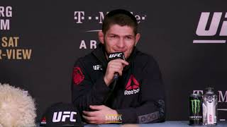 Video UFC 219: Khabib Nurmagomedov Post-Fight Press Conference - MMA Fighting download MP3, 3GP, MP4, WEBM, AVI, FLV Oktober 2018