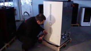 Cleaning a pellet stove Eco Spar Auriga 23kW with subtitles in EN, BG, RO, DE