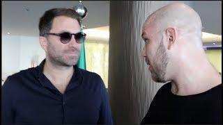 'SO DO I GET THE JOSHUA FIGHT IF I BEAT MAJIDOV?' HEAVYWEIGHT TOM LITTLE STICKS IT ON EDDIE HEARN