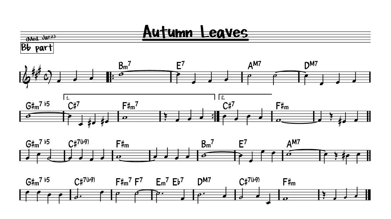 Real Book Autumn Leaves Sheet Music