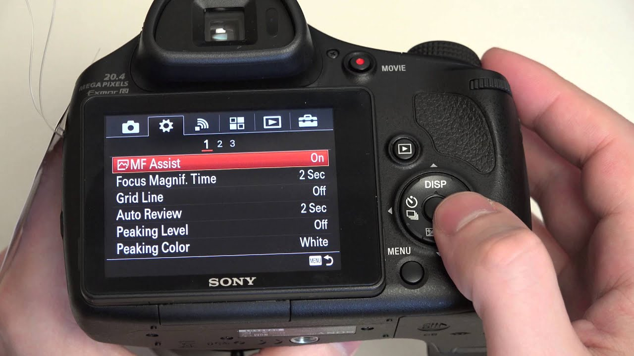 Sony Cyber-shot DSC-HX400V Update and Menu Diving in 4K ...