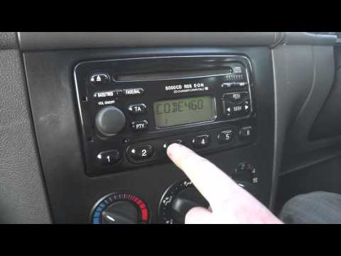 How to input radio code on Ford radios
