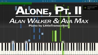 Alan Walker & Ava Max - Alone, Pt. II (Piano Cover) Synthesia Tutorial by LittleTranscriber