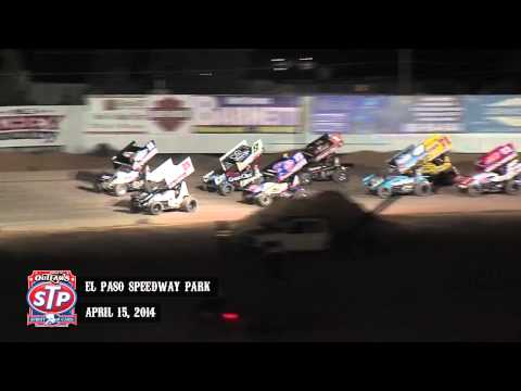 Highlights: World of Outlaws STP Sprint Cars El Paso Speedway Park April 15th, 2014