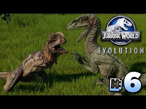 Raptor Vs Dilophosaurus! - Jurassic World Evolution | Ep6
